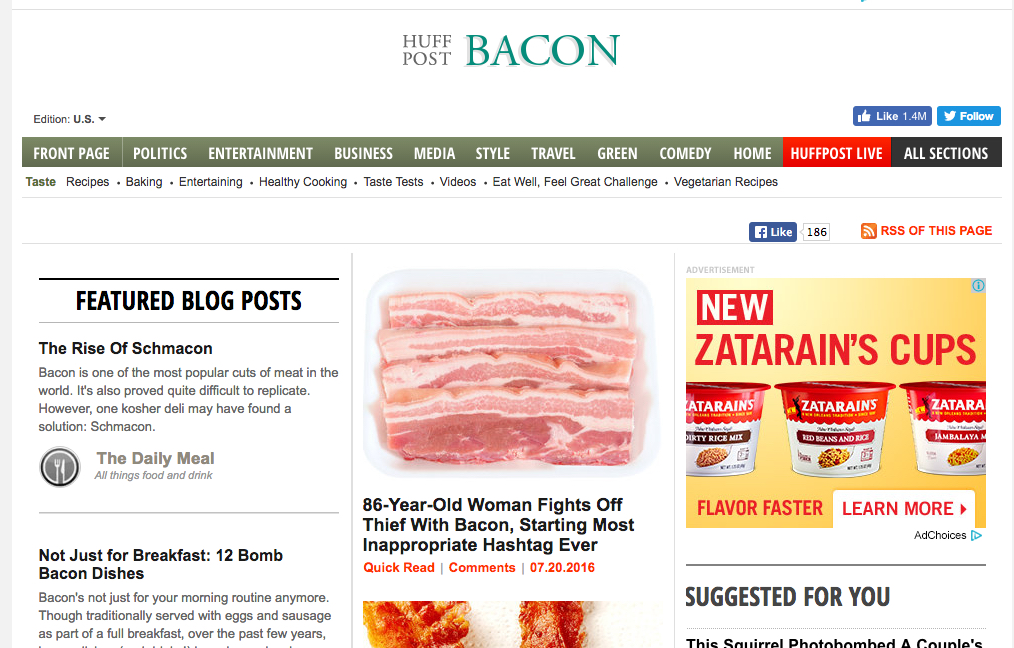 bacon - 5 Blogging Ideas That Can Be Popular Topics