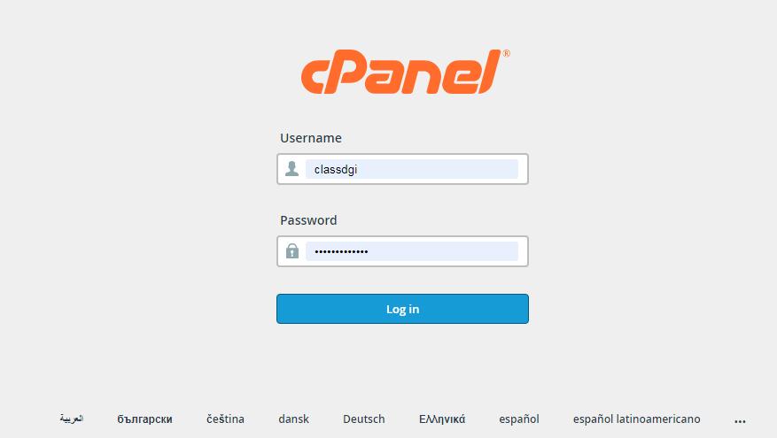 cpanel login - 1:Installation Of The WordPress