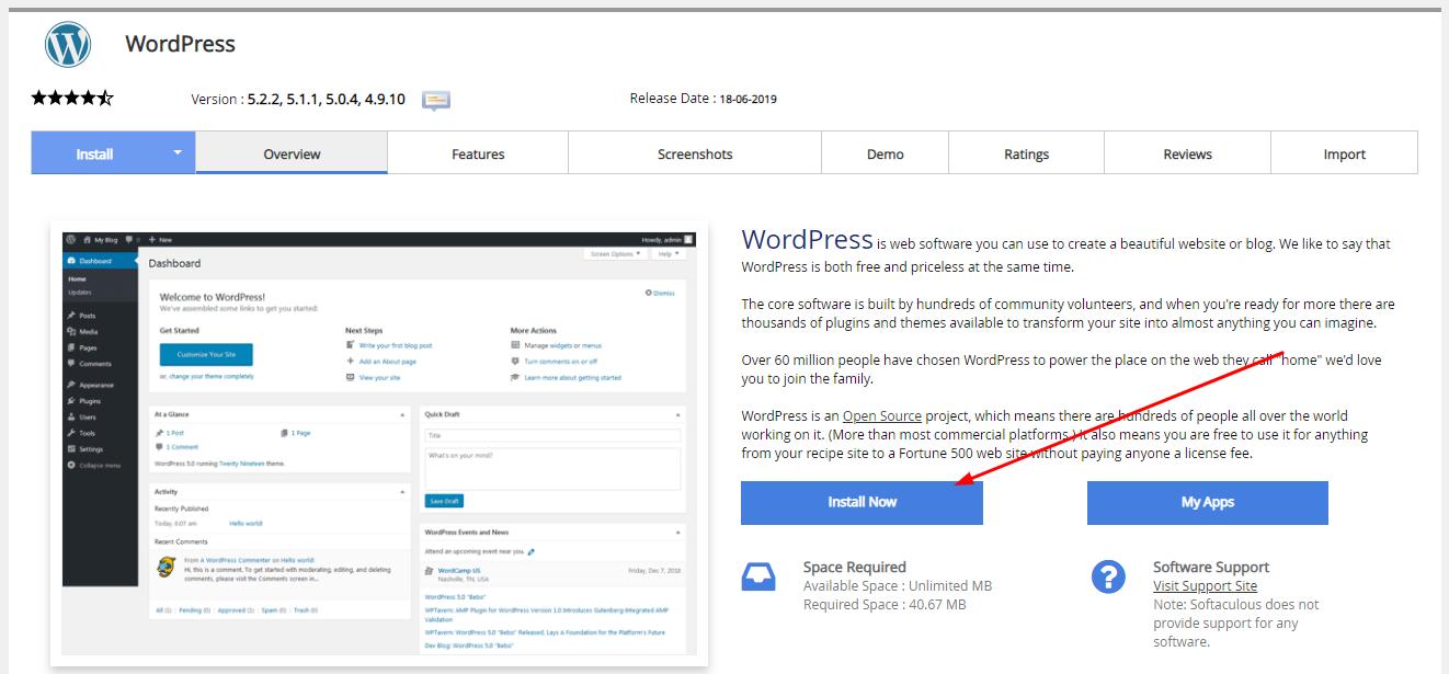 install wordpress - 1:Installation Of The WordPress