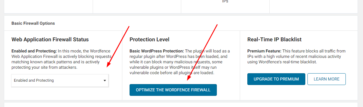 optimize firwall - Wordfence Security Plugin - The Review And Settings