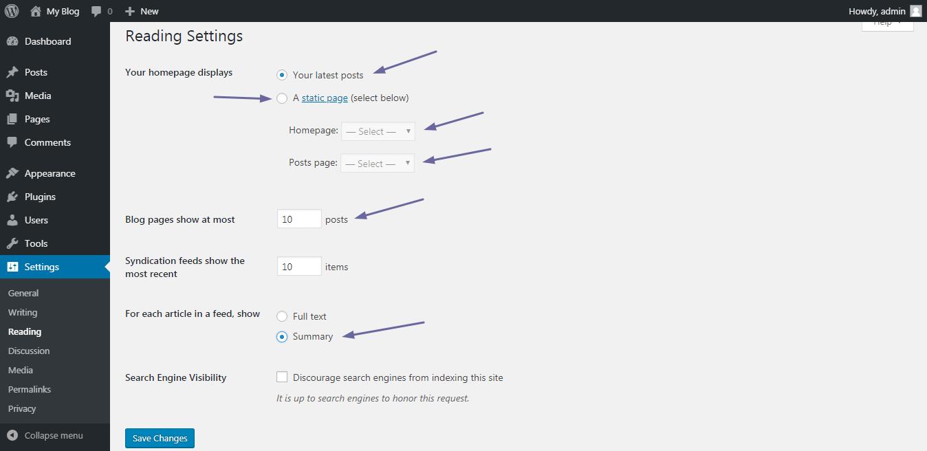 3:More Settings Of WordPress