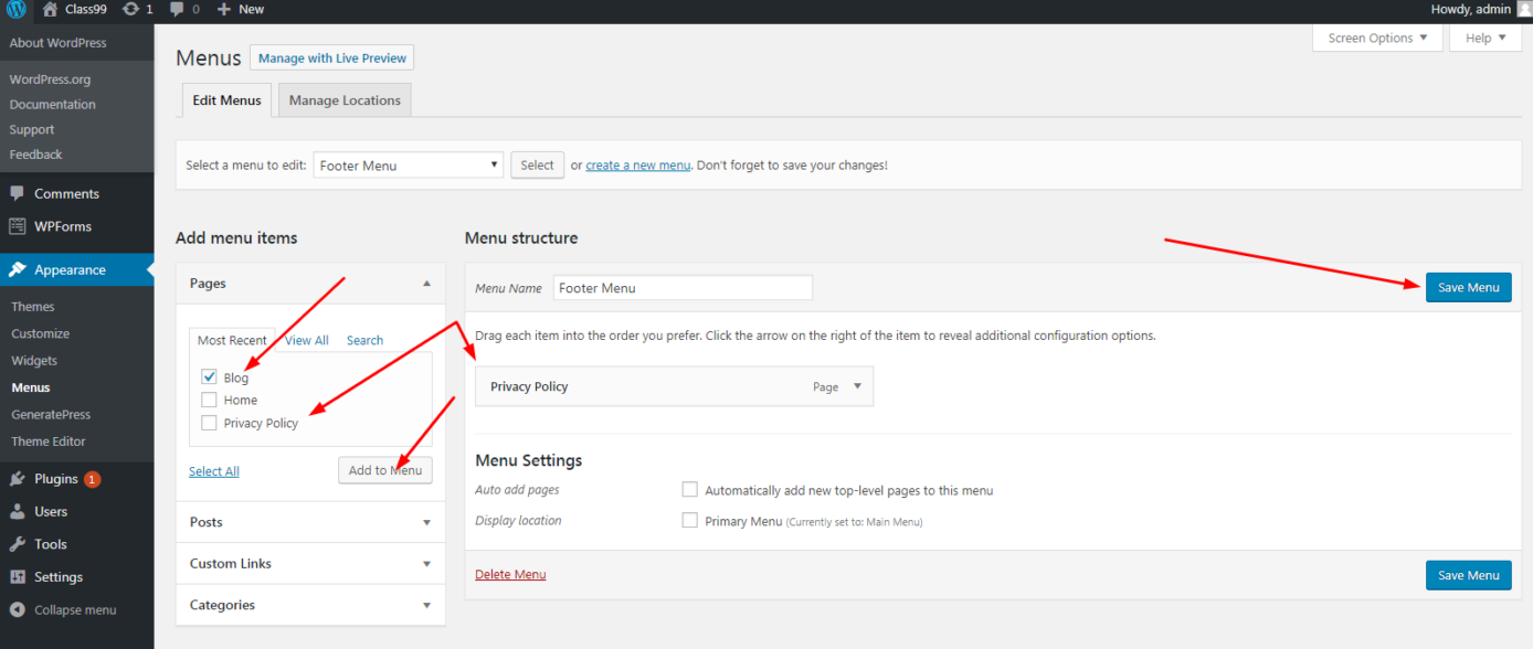10: How to create and manage the menu in WordPress?