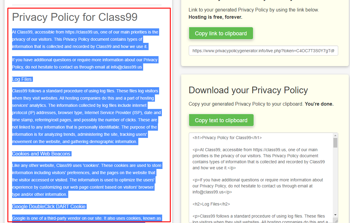 final privacy policy - How to create a privacy policy?
