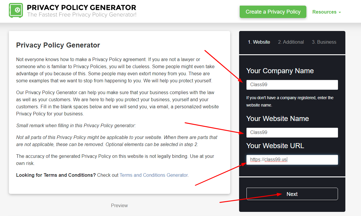 step1 privacy policy - How to create a privacy policy?