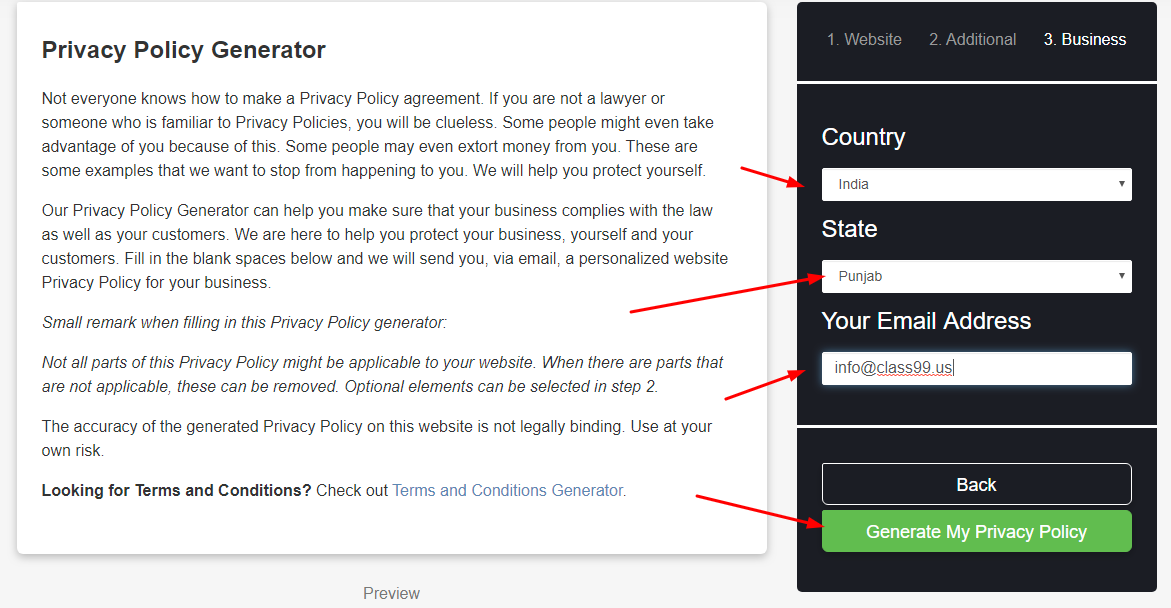 step3 privacy policy - How to create a privacy policy?